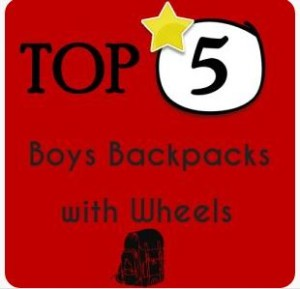 Boys Backpack with Wheels