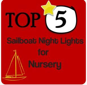 Sailboat Night Light for Nursery